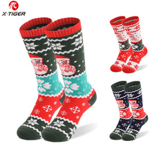 Cotton Socks Sports Winter Long Kids X-TIGER Skiing for Children Christmas-Gift Thicken