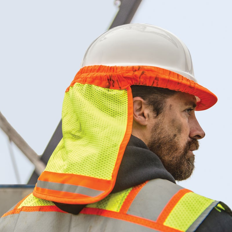 Safety Hard Hat Neck Sun Shade Neck Shield Helmet Cover With Breathable Mesh Reflective Stripe Sun Shade Protector