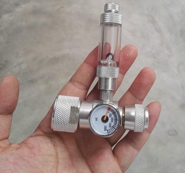 Aluminum Alloy Mini Single Gauge Pressure Reducing Valve With Bubbler Fish Tank Carbon Dioxide Cylinder Fine-tuning Valve