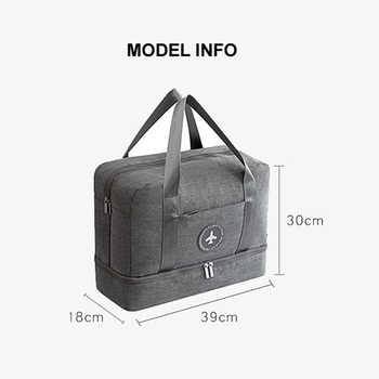 Waterproof Portable Travel Bag Duffle Waterproof Multifunctional Dry Wet Separation Storage Bag Travel Duffle Drop shipping