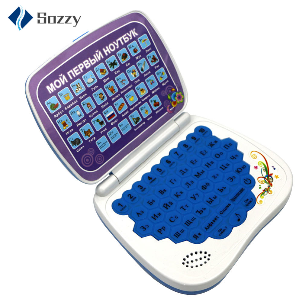 Kids Tablet Kids Toys Educational Mini Russian Language Learning Machine Kids Laptop Toy Children Laptop Toys Learning for Kids image