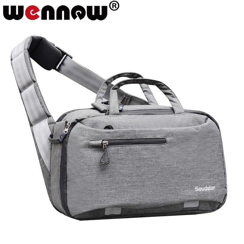 Grand sac DSLR sac pour appareil photo sac à bandoulière incliné pour sony A3000 A3500 A6500 A6000 A290 A230 A220 A200 A100 étui pour trépied