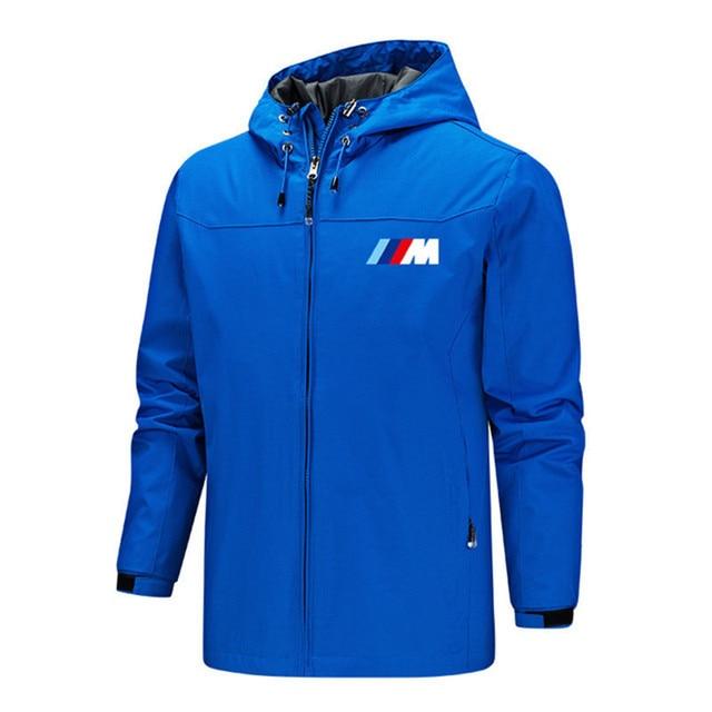 Bmw M Power Jacket Men Lightweight Hooded Zipper Waterproof Coat Windproof Warm Solid Color Fashion Male Coat Outdoor Sportswear 3