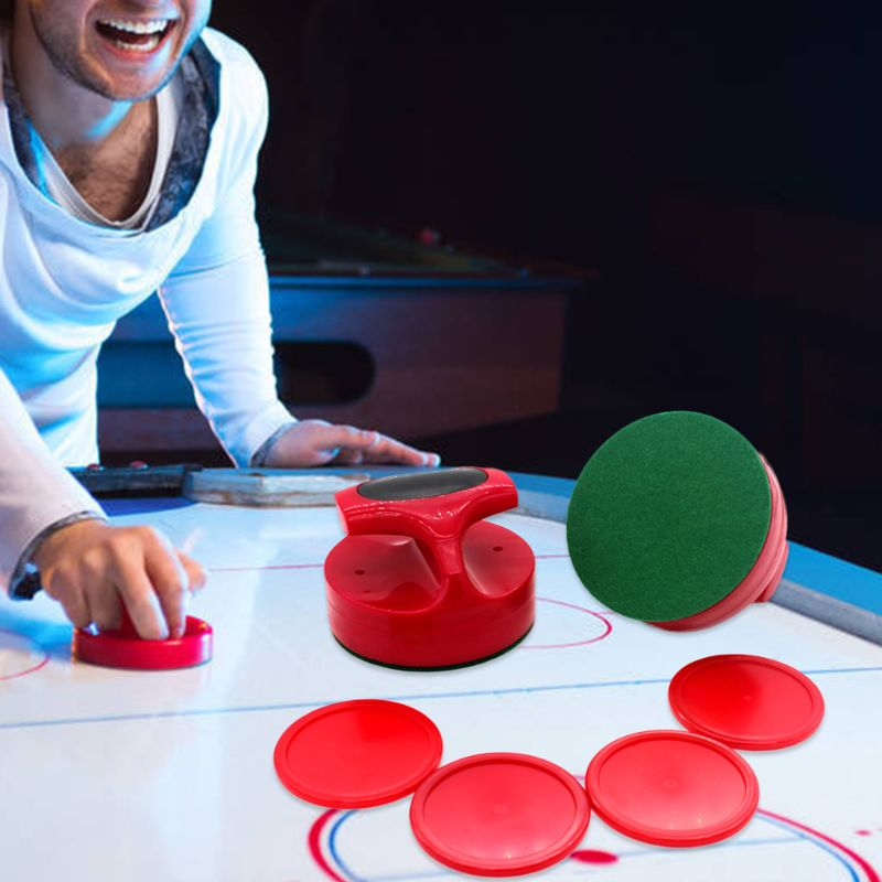 Air Hockey Pushers and Hockey Pucks Great Goal Handles Paddles Replacement Accessories for Game Tables (2 Strike 4 Puck)