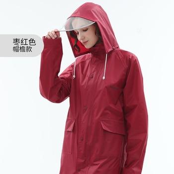 Single Long Raincoat Systemic Rain Coat Coat Poncho Adult Hiking Outdoor Fashion Waterproof Raincoat Rain Jacket Rainwear Gear