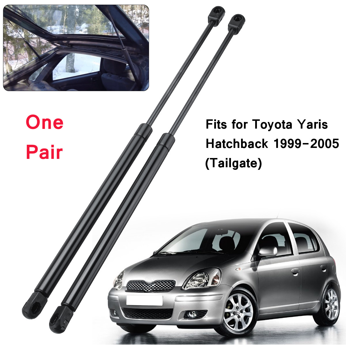 2pcs Trunk Rear Tailgate Boot Gas Struts Lift Support 6895009110 For Toyota Yaris Hatchback 1999 2000 2001 2002 2003 2004 2005