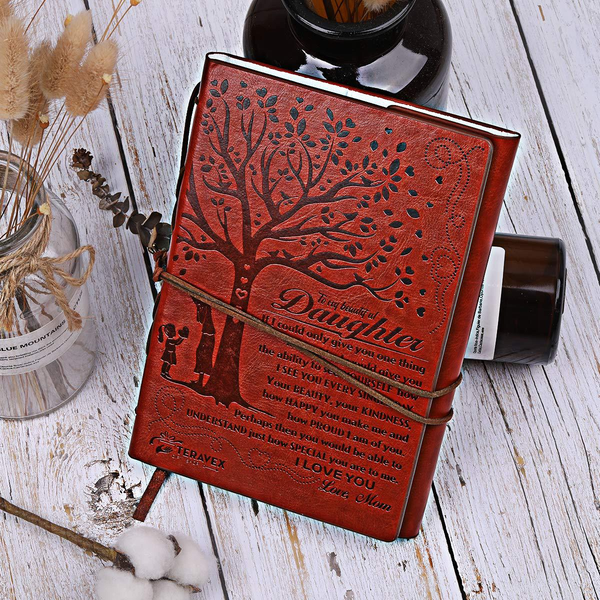 Image 3 - Creative 2020 Mom to Daughter Notebook Gift Refillable Meeting Notebook Diary Notepad Vintage Pirate Anchors PU Leather Notebook-in Notebooks from Office & School Supplies