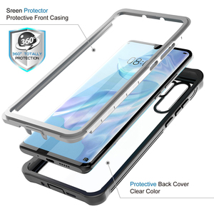 For Huawei P30 Cases 360 Heavy Duty Full Body Case For Huawei P30 Pro Mate 20 Pro Shockproof Bumper Cover With Screen Protector