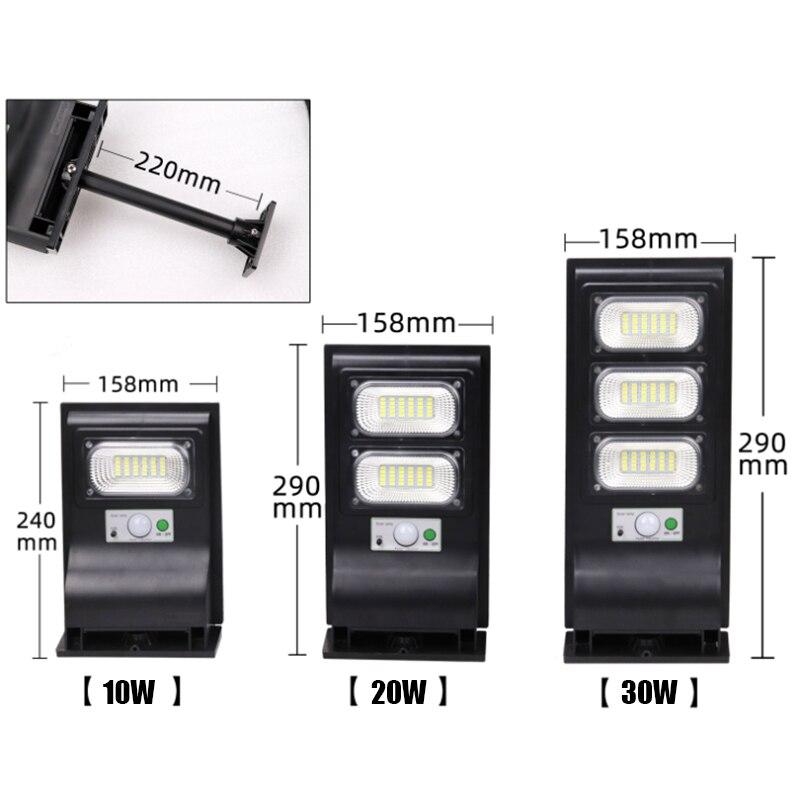 LED outdoor solar street light PIR Motion Sensor Wall Light  Adjustable Waterproof IP65 10W 20W 30W Yard Path Home Garden Lamp 3