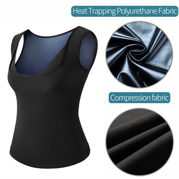 Women Sauna Sweat Vest Polymer Waist Trainer Weight Loss Shapewear Tummy Slimming Sheath Workout Body Shaper Corset Fajas Top