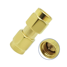 RF Coax Connector SMA Male to SMA Male Adapter Cable Connector 1pc sma male plug rf coax connector pcb cable straight goldplated new wholesale