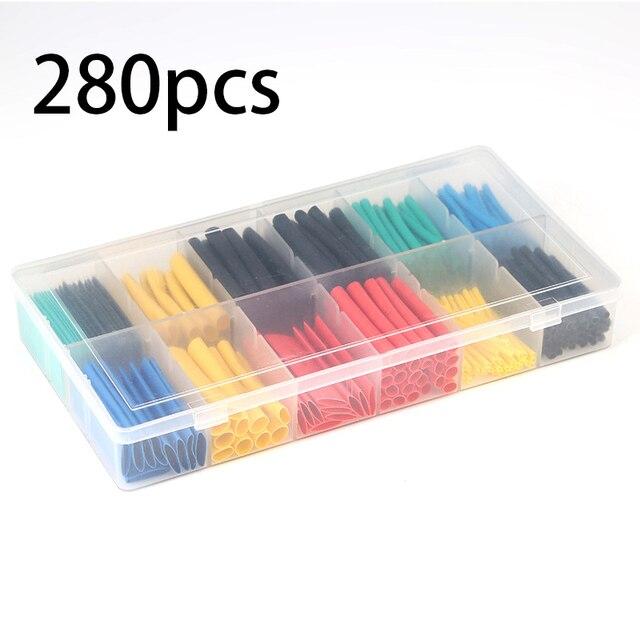 530 sztuk 280 sztuk izolacja rurki termokurczliwej rurka termokurczliwa elektronicznych poliolefinowe drutu zestaw tulei kablowych