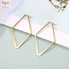 Pendientes de geometría grande minimalistas para mujer, aretes colgantes de Oro grande, Charm, pendientes de fiesta para mujer