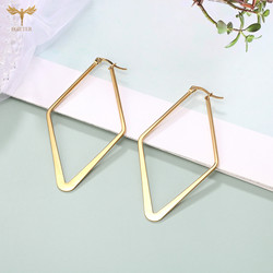 Minimalism Big Geometry Earrings Women's Big Gold Earrings Dangling Pendant Charm Woman Party Earrings