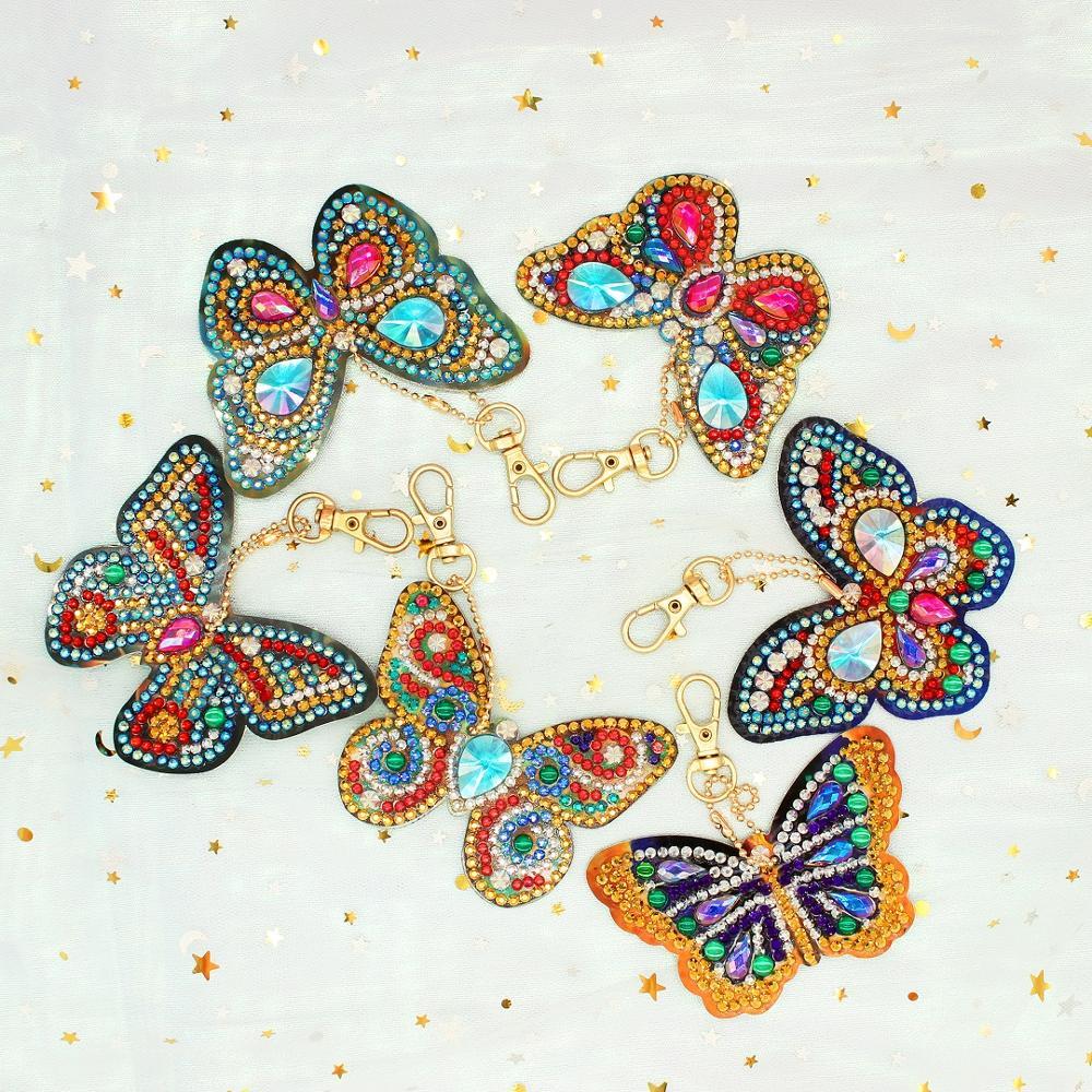 6шт бабочка 5Д алмазная живопись комплекты алмазов Mosac шкентель мешка украшения полный комплект Homfun Алмаз вышивка
