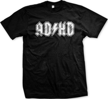 лучшая цена Hot sale men t shirt ADHD ADD Parody Rock and Roll Entourage Music Funny Novelty Gift Men's T-shirt men tshirt man t-shirt