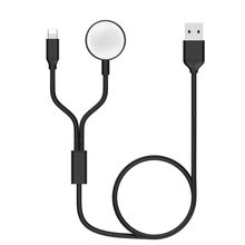 2 In 1 Data Cable Wireless Charger For iWatch 1 2 3 4 5 Portable Magnetic Watch Wireless Fast Charger For iPhone Charging Cable magnetic wireless charger watch fast charger for apple watch 4 3 2 1 portable usb wireless charge cable for iwatch 1 2 3 4