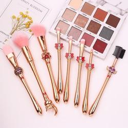 Kit de pinceaux de maquillage Pro, lot de 8 pièces, corsair Moon, cheveux doux, correcteur, ombre à paupières, fond de teint, lèvre, outil cosmétique