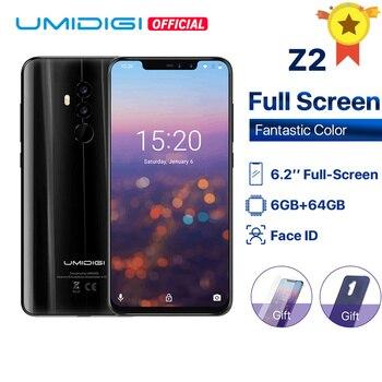 Перейти на Алиэкспресс и купить UMIDIGI Z2 глобальная версия Helio P23 6 ГБ ОЗУ 64 Гб ПЗУ 6,2 дюйма FHD + полноэкранная четырехъярусная камера Android 8,1 3850 мАч распознавание лица 4G мобильный...