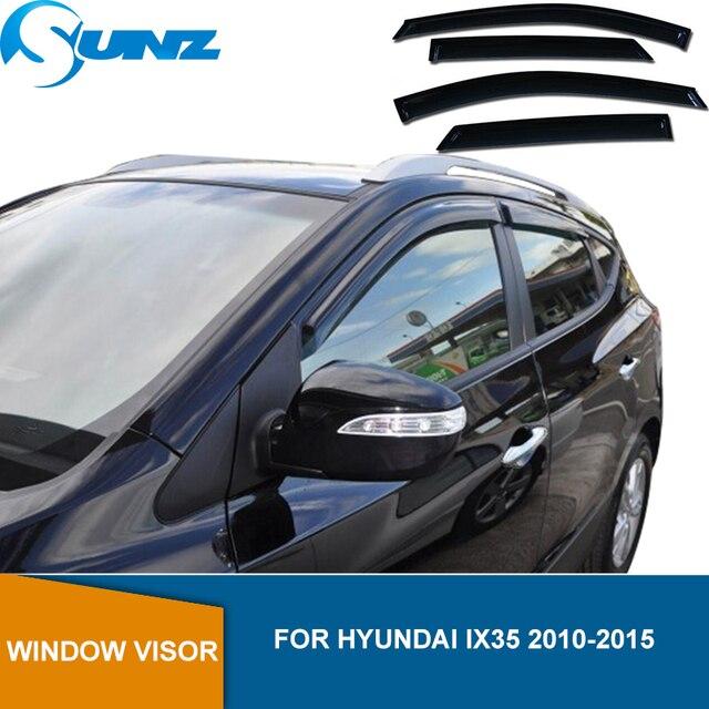 Side Window Deflector For Hyundai IX35 2010 2011 2012 2013 2014 2015 ABS Black Window Visor Vent Shades Sun Rain Deflector SUNZ