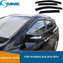 Side Window Deflector Voor Hyundai IX35 2010 2011 2012 2013 2014 2015 Abs Zwart Venster Vizier Vent Shades Zon Regen deflector Sunz