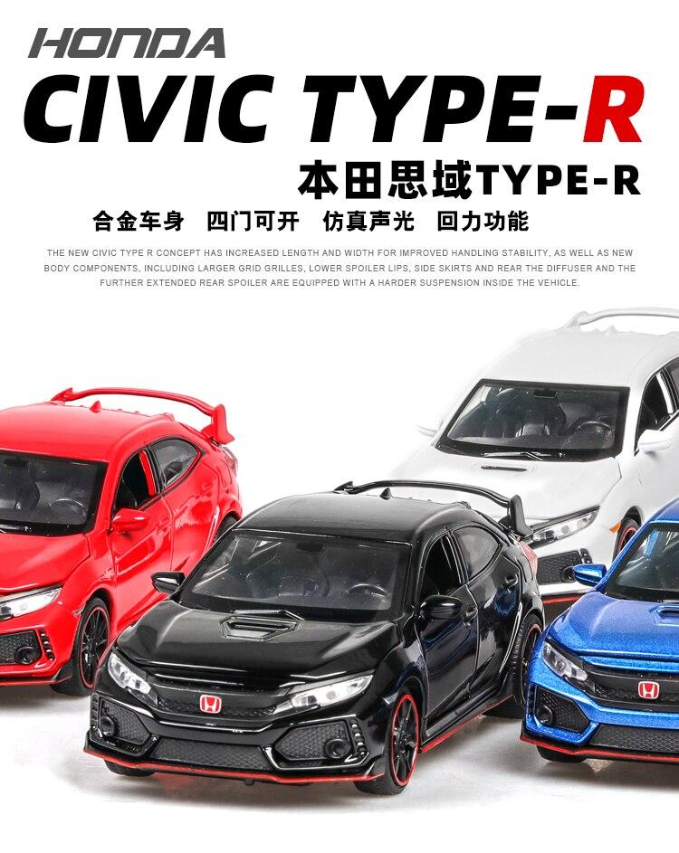 Honda Civic Type R 1/32 Model Car 35