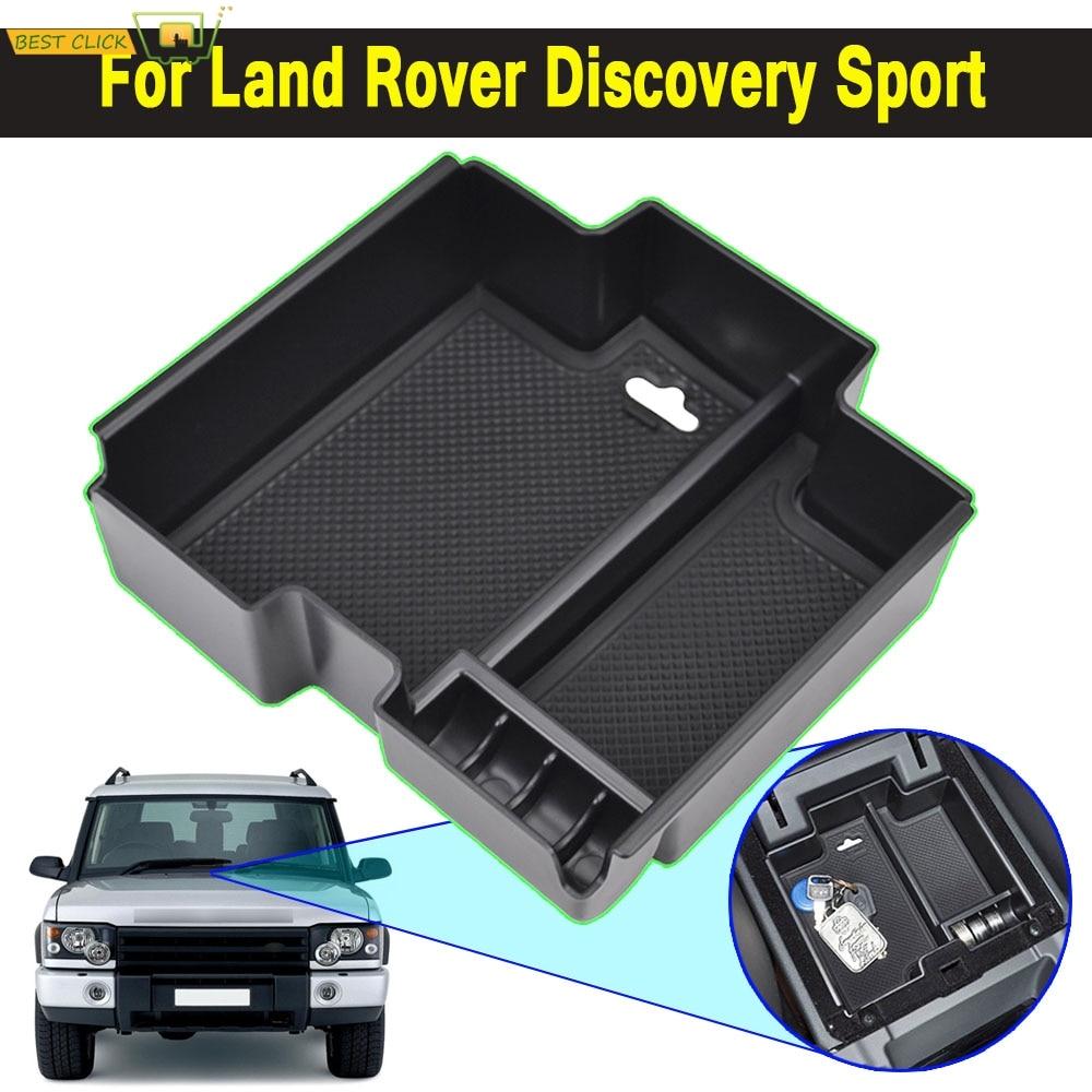 For Land Rover Discovery 5 2017-2018 Interior Black Armrest Storage Box Holder
