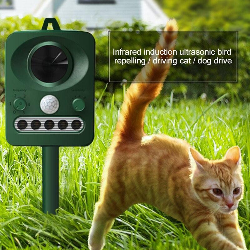 Ultrasonic Dog Repeller Ultrasonic Cat Repeller Solar Power Bird Repeller Infrared Detector Outdoor Electronic RC 512|Repellents| |  - title=