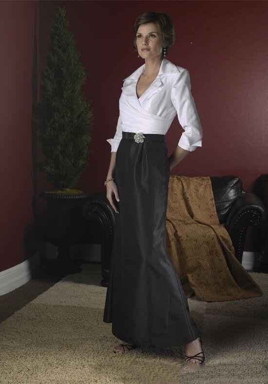 Vintage White Shirt Black Skirt Mother Of The Bride Dresses Long Sleeves Custom Elegant Formal Party Dress Evening Gown