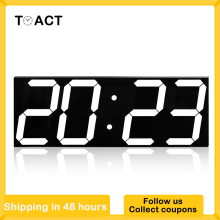 Wall-Clock Number-Display Office Digital Kitchen Electronic Home Wake-Up-Light Night