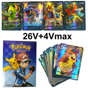 30pcs Pokemon Cards V Vmax Shining Card English Sword Shield Booster Box Collectible Trading Card Game For Kids Childer Toy Gift
