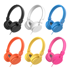 BASS Headphones, Lightweight Stereo Foldable Wired Headphones for Kids Adjustable Headband Headset for Phones Computer PC Music original takstar pro82 pro 82 professional monitor headphones hifi headset for stereo pc recording k song game bass adjustable