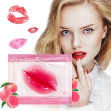 5-12packs Lip Plumper Peach Lip Mask Pads Nourishing Moisture Essence Anti Ageing Wrinkle Patch Pad Gel Scrub Lips Care Enhancer