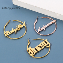 Letter Earrings Jewelry Custom-Name Women for 3-Color Party