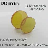 CO2 lente láser ZnSe enfoque Lenes Plano-lentes convexos máquina de soldadura láser de Dia.18 19,05 20 mm FL38.1 50,8, 63,7, 76,2, 101,6, 127mm