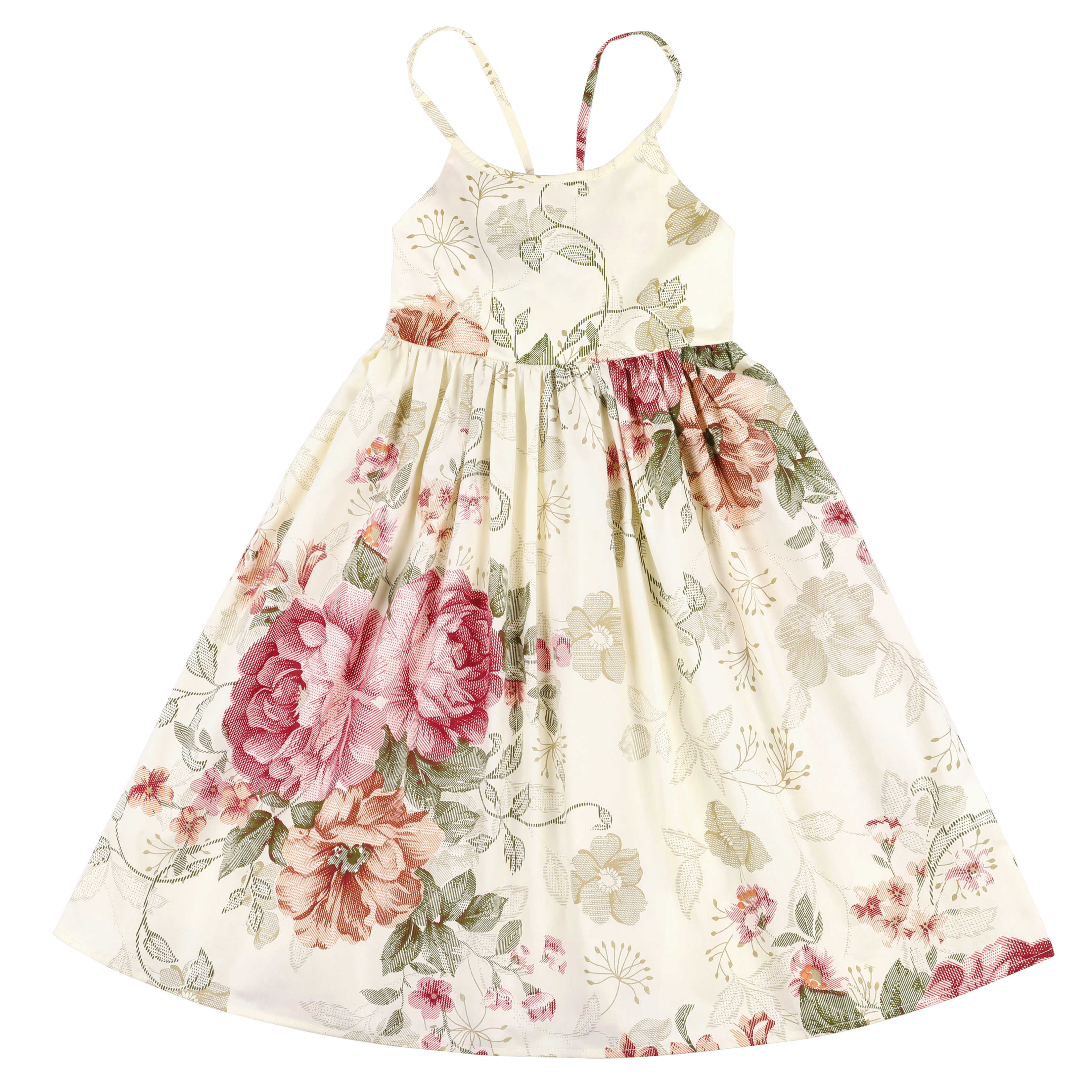 Flofallzique Summer Floral Girls Dress Birthday Party Kids Sundress Baby Clothes