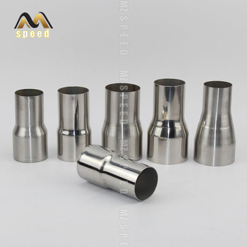 Car accessories 304 stainless steel reducer 51mm to 63mm exhaust pipe