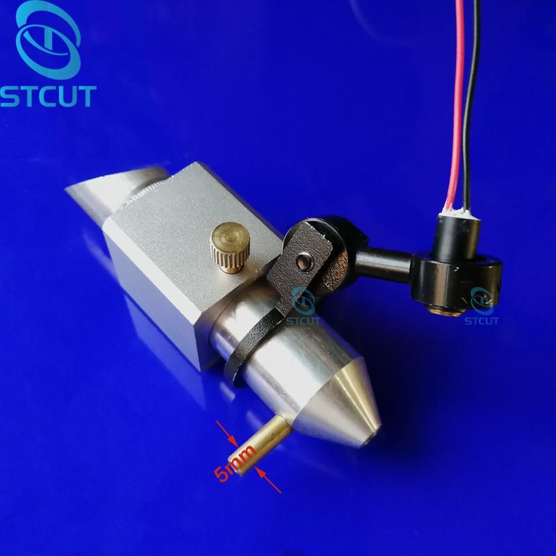 Cabezal láser de CO2 Módulo de puntero de punto rojo Posicionamiento + Lente de montaje integrado Espejo para máquina de grabado y corte láser K40
