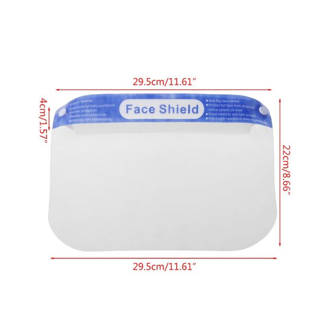 1Pc Multipurpose Transparent Adjustable Anti-saliva Dust-proof Anti-fog Full Face Protective Face Shields for adults for child 5