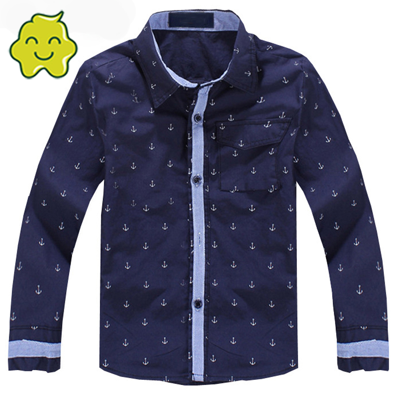 Top Quality Spring Autumn Boys Shirts Long Sleeve Cotton Shirt For Children Casual Fashion Shirts 3-12 Y Baby Boy Shirt Blouse Y