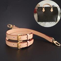 Piezas para mochilas y accesorios, bolsos de marca, correa de piel auténtica, longitud 78-123cm, bolso de mano, correa de piel curtida para hombro