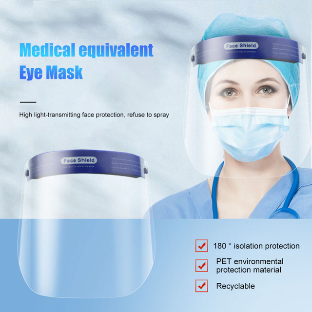 1pcs Clear Face Shield Screen Mask Visor Eye Protection Anti-fog Protective Prevent Saliva Splash Mask Dropshipping 1