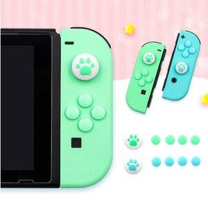 Image 2 - אגודל מקל אחיזת כובע ג ויסטיק כפתור מגן כיסוי עבור Nintendo מתג שמחה קון NS לייט בקר ABXY מפתח מדבקה עור מקרה