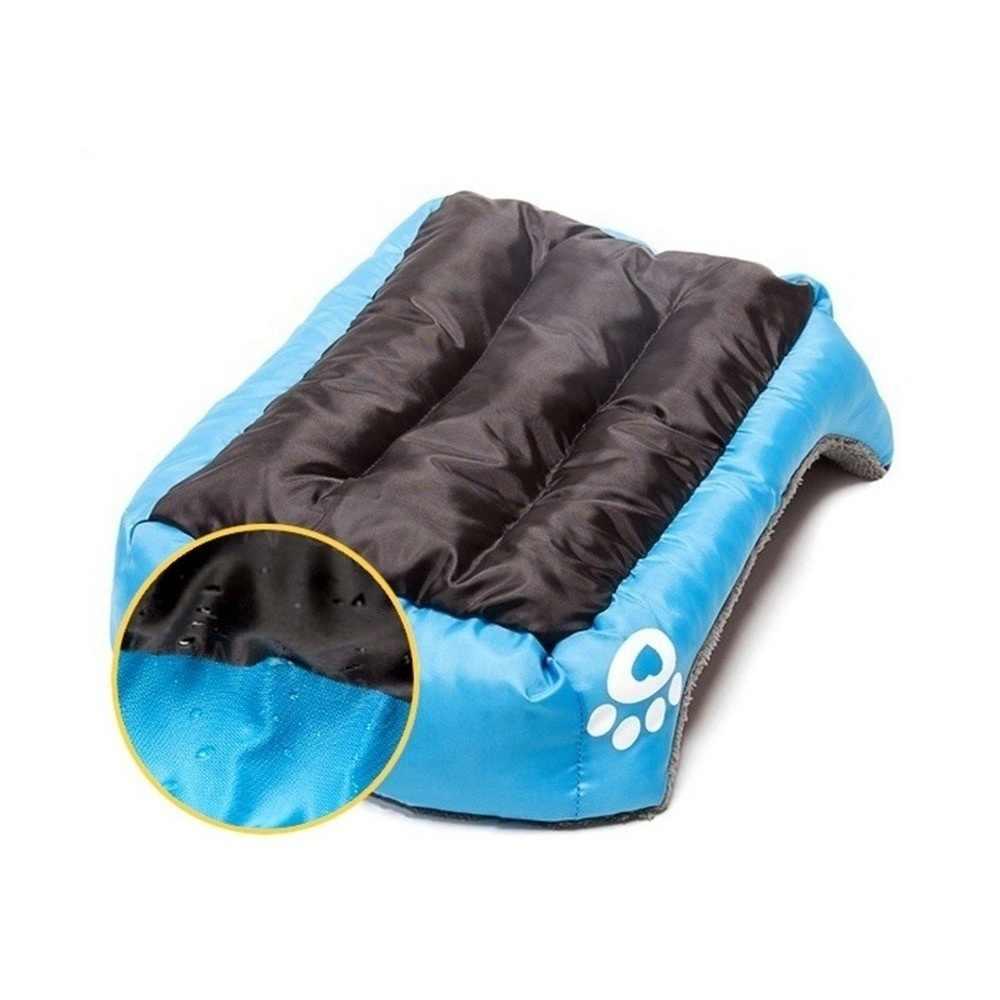 (S-3XL) גדול לחיות מחמד חתול כלב מיטת 8 צבעים חם מפנק כלב בית רך צמר קן כלב סלי בית מחצלת סתיו חורף עמיד למים מלונה