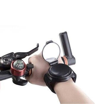 الدراجة مرآة 360 درجة تدوير MTB الذراع شريط للرسغ الرؤية الخلفية دراجة مرآة خلفية الدراجات الدراجة اكسسوارات دراجة الرؤية الخلفية