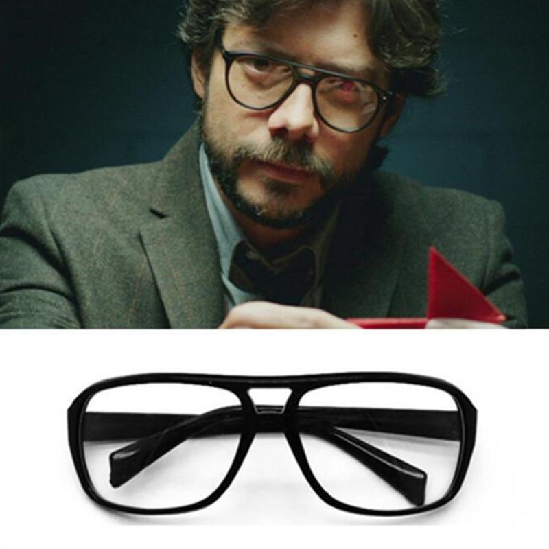 House Of Paper Money Heist Cosplay Glasses El Profesor Accessories Props Eyewear