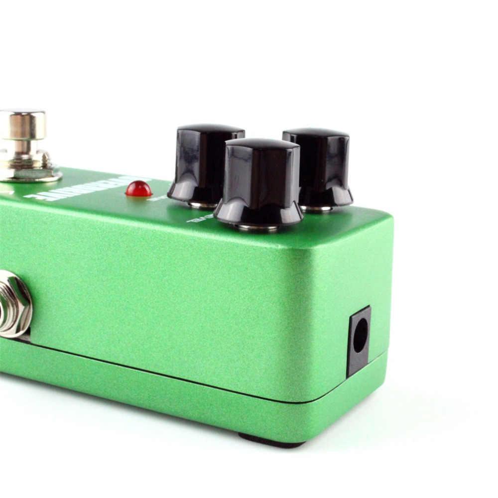 أداة تعزيز الحركة الزائدة للجيتار صغيرة من KoKKo مزودة بدواسة لزيادة محرك جيتار عالية الطاقة مع صندوق تثبيت للجيتار FOD3