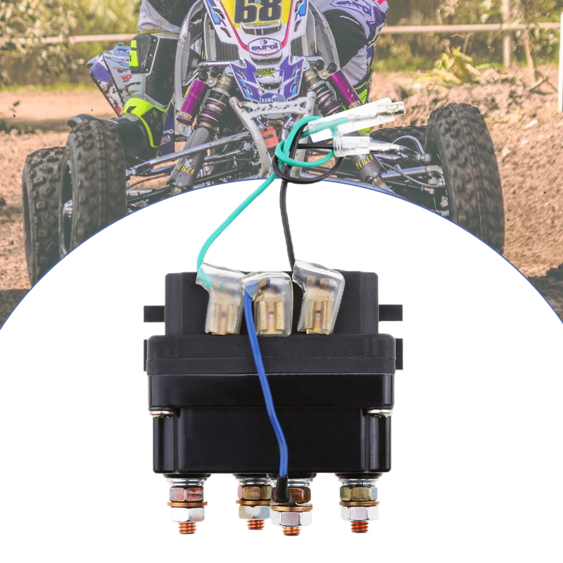 12V 500A Winch Solenoid Contactor Relay For 9500lbs-17000lbs ATV UTV 4WD 4x4 Winches Replacement 80mm*7.5mm*40.5mm