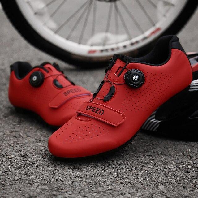 Sapatos de ciclismo homem profissional velocidade estrada bicicleta apartamentos unisex esporte ao ar livre tênis mulher sapatilha zapatillas hombre 6