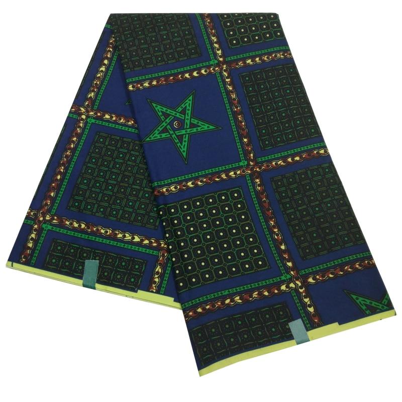 African Wax Fabric 100% Polyester 2019 Nigerian Ankara Wax Fabric High Quality Nederlands Batik Fabric 6Yards